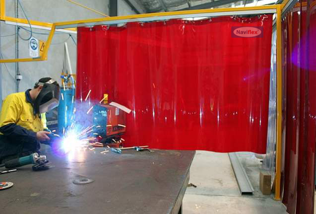 Transparent Red PVC Rolls
