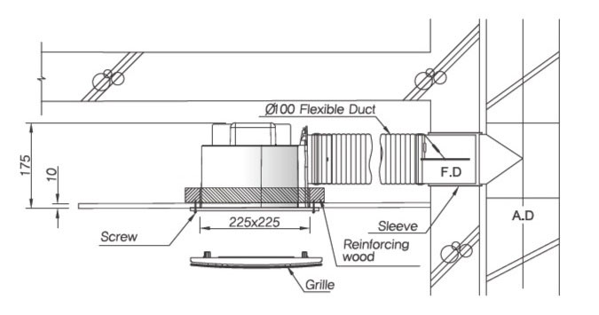 Lắp đặt quạt thông gió HIMPEL FZD-C90