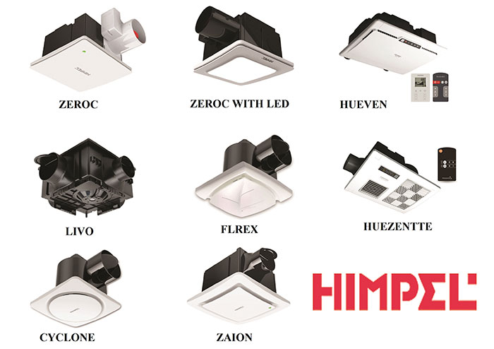 Các loại quạt thông gió HIMPEL