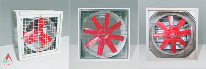 Axial fans square motion direct