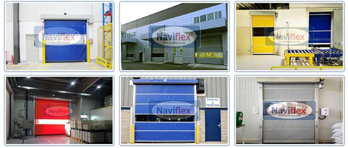 Các mẫu cửa cuốn nhanh Naviflex