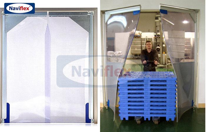 Cửa xoay tự động PVC Naviflex