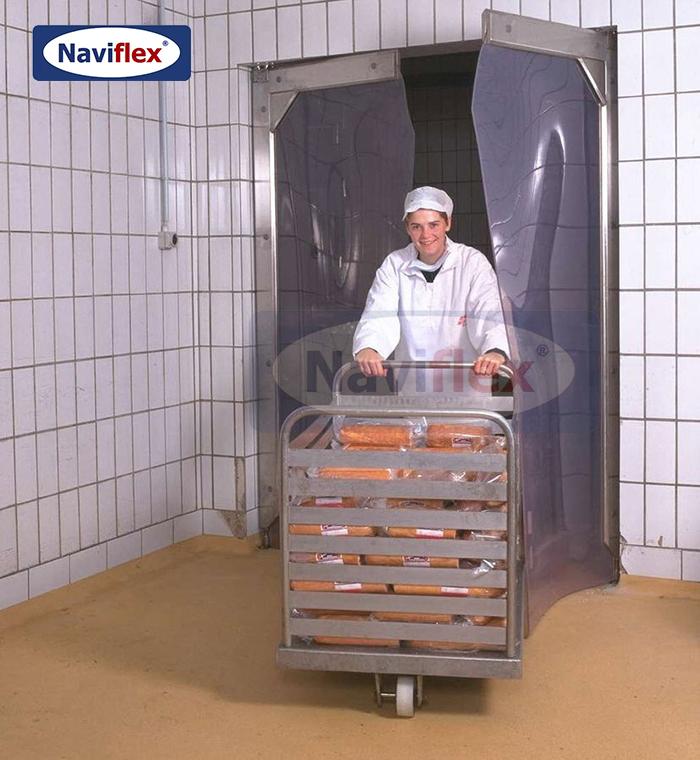 Cửa xoay tự động PVC cho kho lạnh