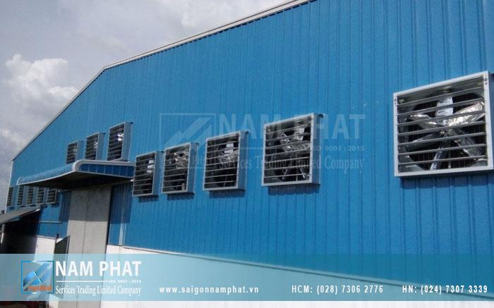 Quạt thông gió công nghiệp cần phải có trong kho xưởng